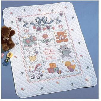 Babies Are Precious Crib Cover Stamped Cross Stitch Kit