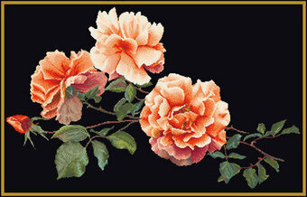 Just Joey (Orange Rose) - Cross Stitch Kit
