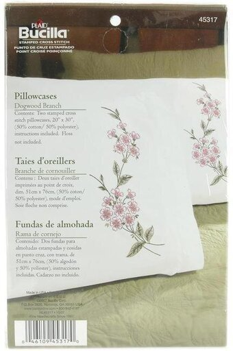 Pillowcase Pairs - Dogwood Branch - Embroidery Kit