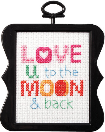 Love You to the Moon and Back - Beginner Cross Stitch Kit