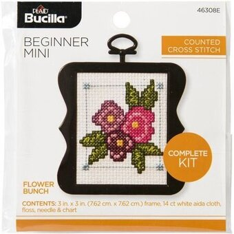 Bucilla Counted Cross Stitch - Beginner - Flower Bunch