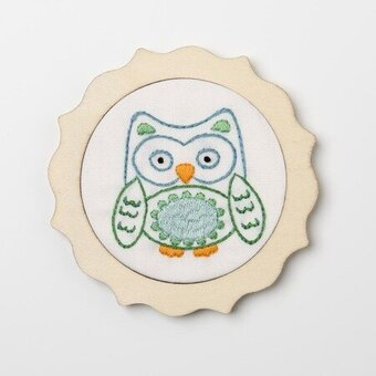 Blue Owl - My 1st Stitch - Stamped Embroidery Kit