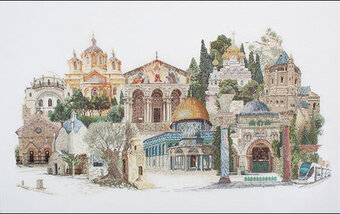 Jerusalem Cross Stitch Kit