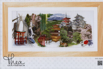 Japan (White Aida) - Cross Stitch Kit
