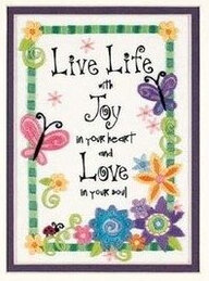Live Life - Crewel Embroidery Kit