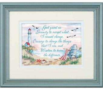 Serenity Prayer Stamped Cross Stitch Kit