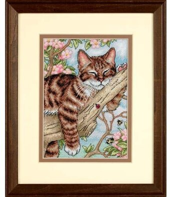 Napping Kitten - Cross Stitch Kit