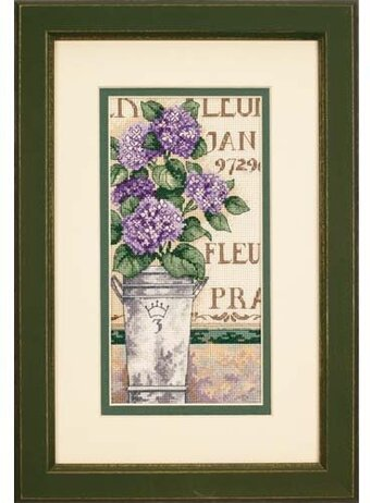 Hydrangea Floral - Cross Stitch Kit