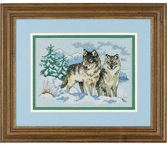 Pair of Wolves - Cross Stitch Kit