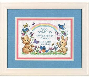 God's Babies Birth Record - Cross Stitch Kit