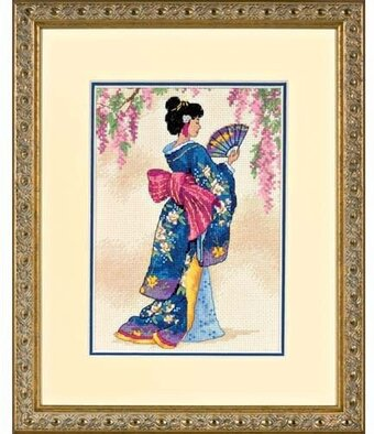 Elegant Geisha - Cross Stitch Kit