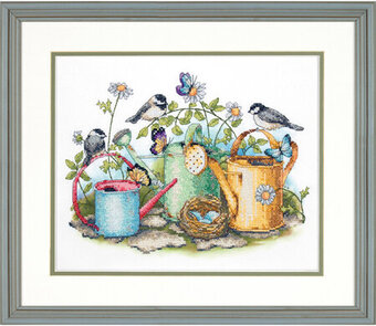 Watering Cans - Stamped Cross Stitch Kit