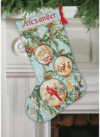 Enchanted Ornament Christmas Stocking Cross Stitch Kit