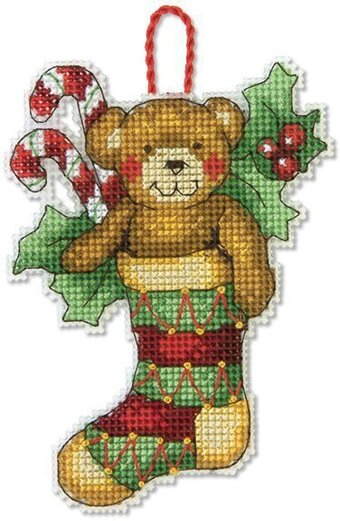 bear christmas ornament cross stitch kit - Cross Stitch Christmas Decorations