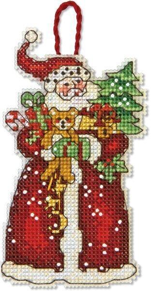 Dimensions Santa Christmas Ornament - Cross Stitch Kit 70
