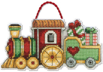 dimensions train christmas ornament cross stitch kit 70 08897