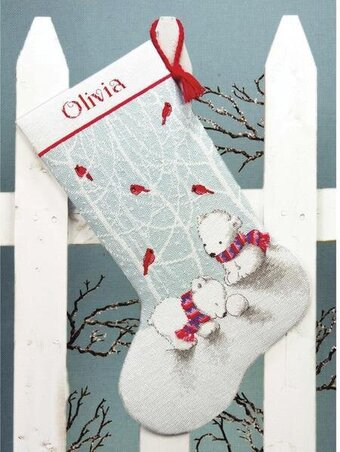 Dimensions Snow Bears Christmas Stocking - Cross Stitch Kit 70 ...