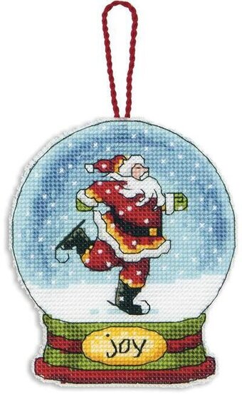 Joy Snowglobe (Christmas Ornament) - Cross Stitch Kit