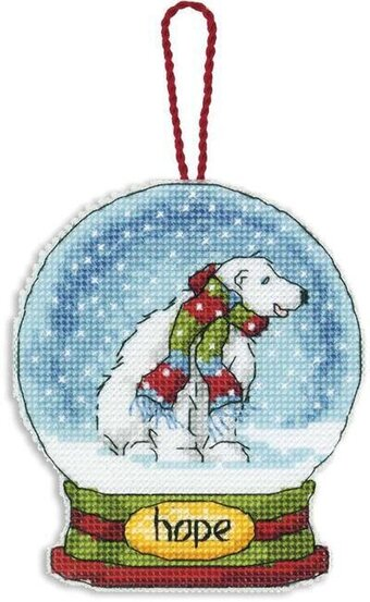 Hope Snowglobe (Christmas Ornament) - Cross Stitch Kit