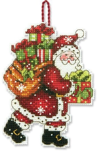 Santa with Bag (Christmas Ornament) - Cross Stitch Kit