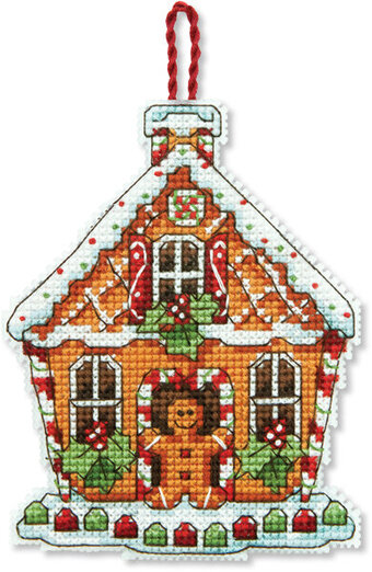 Gingerbread House (Christmas Ornament) - Cross Stitch Kit