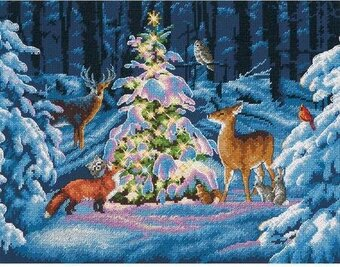 woodland glow christmas cross stitch kit - Woodland Christmas