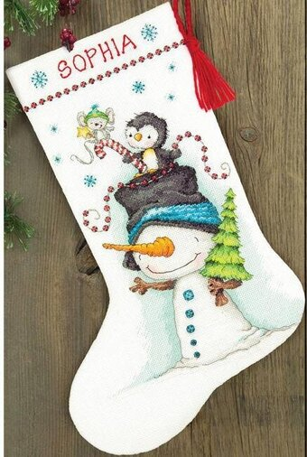 Dimensions Jolly Trio Christmas Stocking - Cross Stitch Kit 70 ...