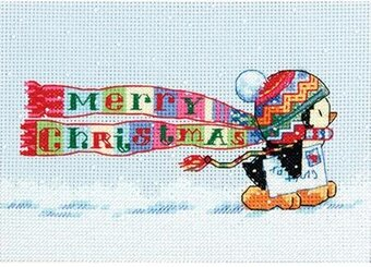 Christmas Penguin - Cross Stitch Kit