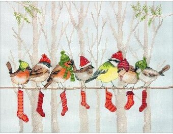 Winter Gathering - Christmas Cross Stitch Kit