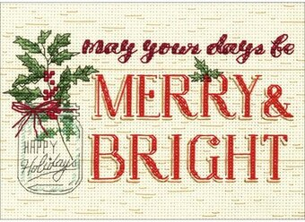 Merry And Bright - Christmas Cross Stitch Kit