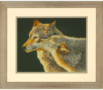 Wolf Kiss - Cross Stitch Kit