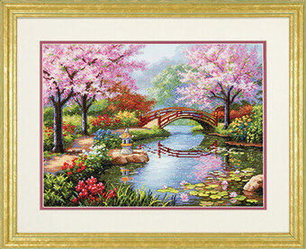 Japanese Garden - Cross Stitch Kit