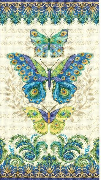Peacock Butterflies - Cross Stitch Kit