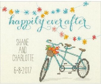 Happily Ever After Wedding Record - Cross Stitch Kit