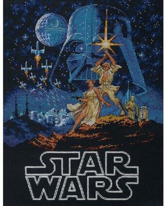 Luke and Princess Leia - Star Wars Cross Stitch Kit