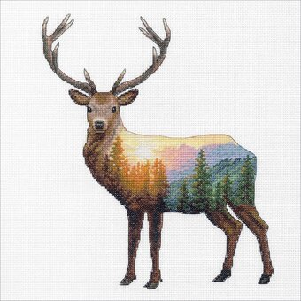 Deer Scene - Counted Cross Stitch Kit