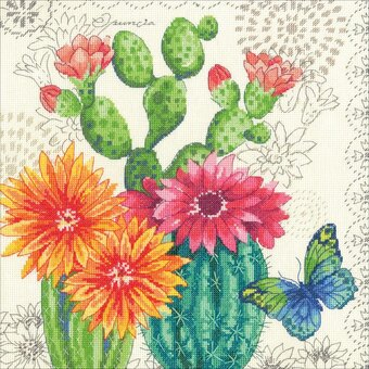 BUTTERFLIES AND BAMBOO Counted Cross Stitch Kit RTO