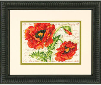 Poppy Pair - Cross Stitch Kit