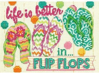 Flip Flops - Cross Stitch Kit