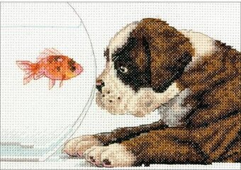 Dog Bowl - Cross Stitch Kit