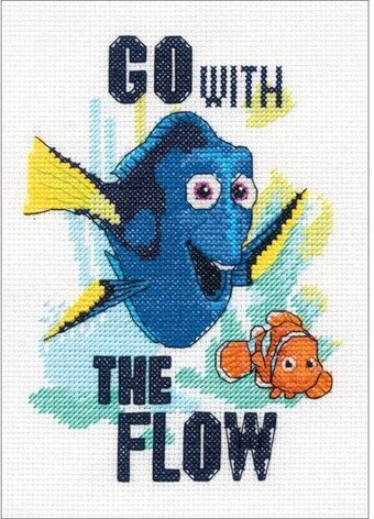 Go with the Flow Finding Dory - Disney Cross Stitch Kit