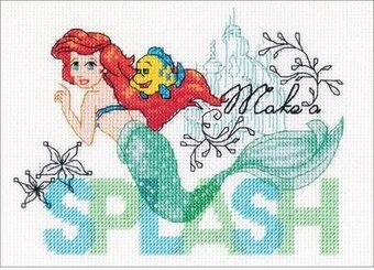 Make a Splash Little Mermaid - Disney Cross Stitch Kit