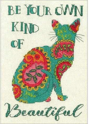 Paisley Cat - Cross Stitch Kit