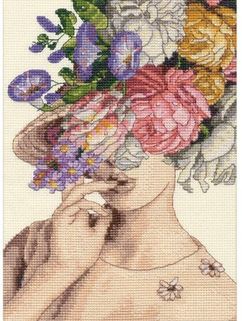 Garden Lady - Counted Cross Stitch Kit