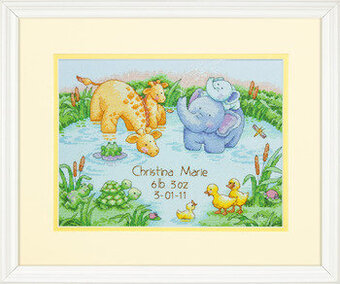 Little Pond Birth Record - Cross Stitch Kit