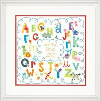Alphabet Birth Record - Cross Stitch Kit