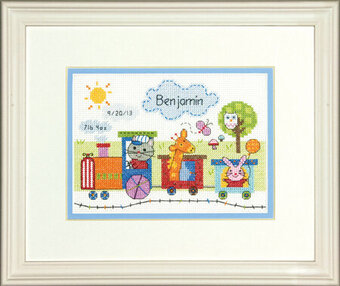 Train Birth Record - Cross Stitch Kit