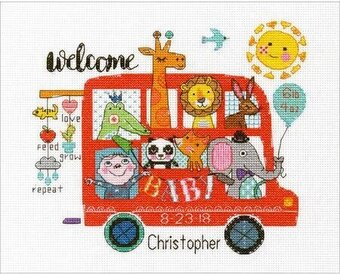 Baby on Board Birth Record - Cross Stitch Kit