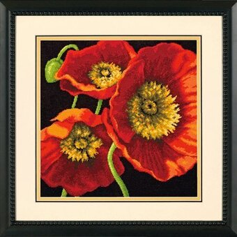 Red Poppy Trio - Needlepoint Kit