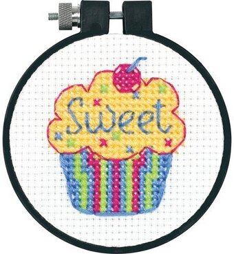 Cupcakes Learn-A-Craft - Beginner Cross Stitch Kit